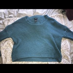 Rue21 Blue Oversized Cropped Sweater